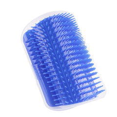 Pet Supply Plastic Cat Self Massage Comb Wall Corner Grooming Brush