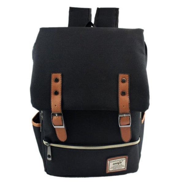 Men's Vintage Canvas Travel Backpack School Bag
