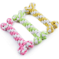 1Pc 15cm Hemp Rope Chew Toys For Dog Cat Random Color Knot