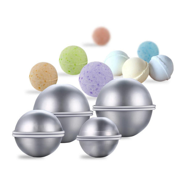 Metal Bath Bomb Mold Set with Balls