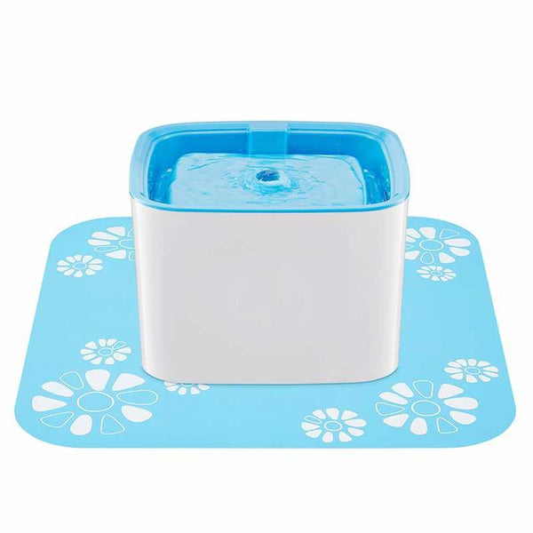 Dog Drinker Mat Automatic Square Green Food Grade Silicone Non-slip Water Pad