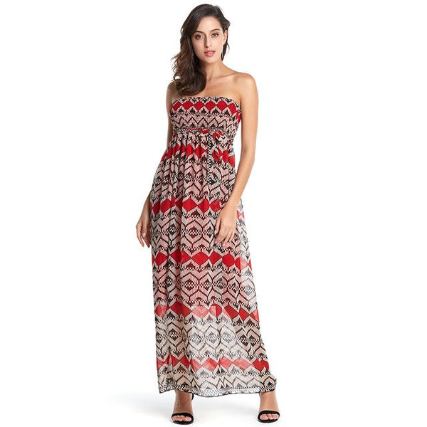 Long Dress Women Off shoulder Beach Summer