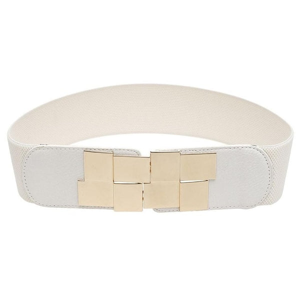 Waistband Elastic Lady's Wide Stretch Elegant Belt