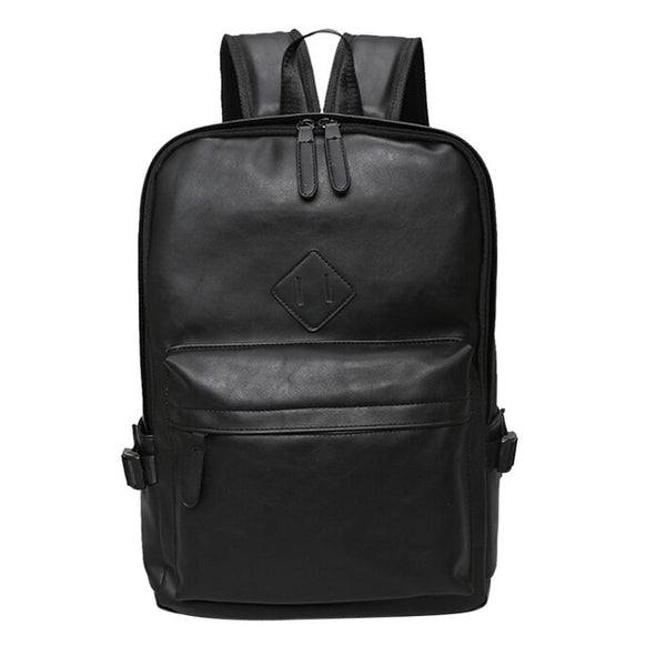 Men Neutral Leather Backpack Shoulder Bag