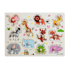 Cartoon Animal 3D Wooden Sticker Puzzle Toys For Kids