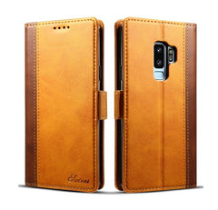 New Leather Slot Phone case For Samsung Galaxy S9 S9Plus Splice Texture Cover Wallet