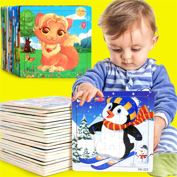 Wooden Educational Developmental Baby Kids Training Puzzle Toy