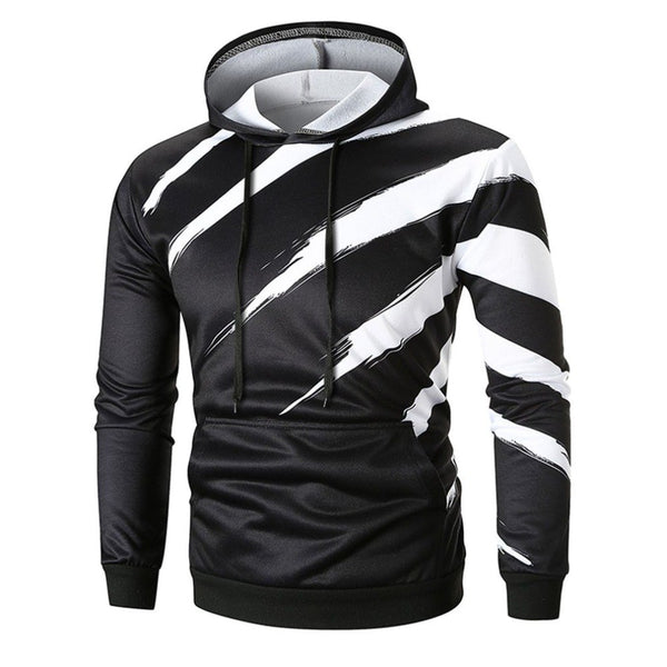 Winter Men's Hooded Tops Warm Long Sleeve