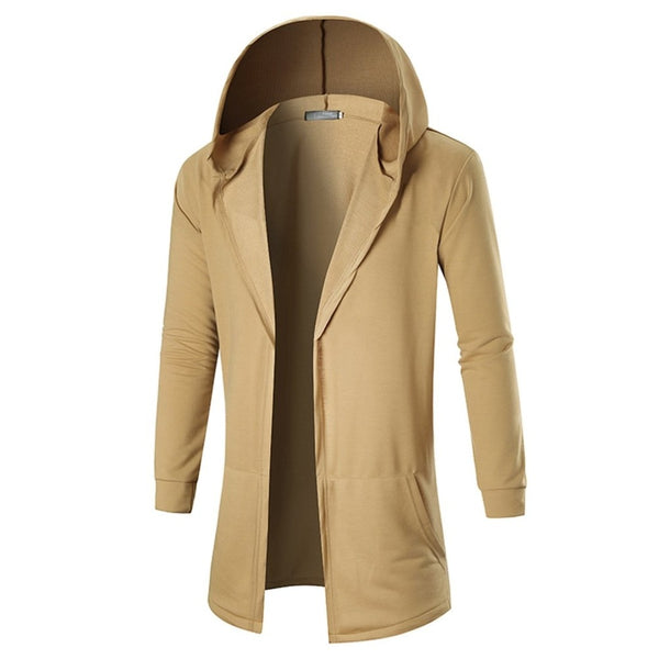 Coat Jackets Fashion Rib Long Sleeve Solid Hooded