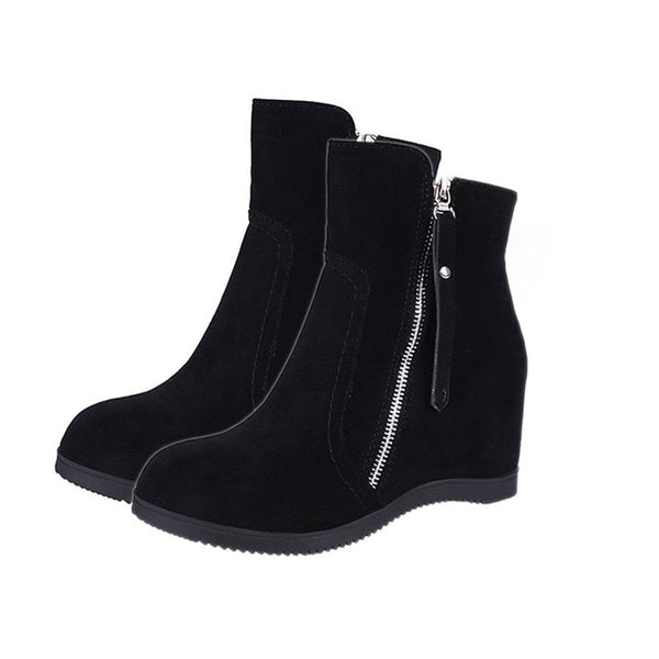 Women Ankle Boots Waterproof Wedge Platform