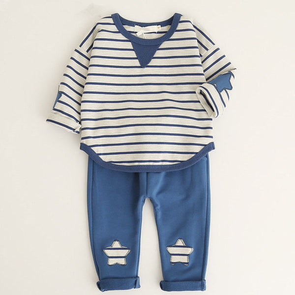 Boys clothing set lucky child Baby Striped Cartoon