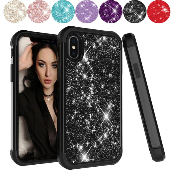 Glitter Sparkle Stars Bling Case Cover Skin For iPhone XS XS Max