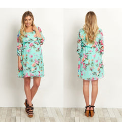 Clothes Casual Pregnants  Floral Print Tops