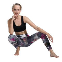 Women Yoga Pants Sports Running Stretchy Fitness