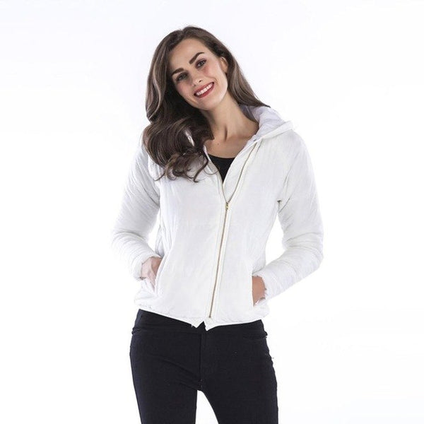 Warm Jacket Women Zipper Long Sleeve Outerwear