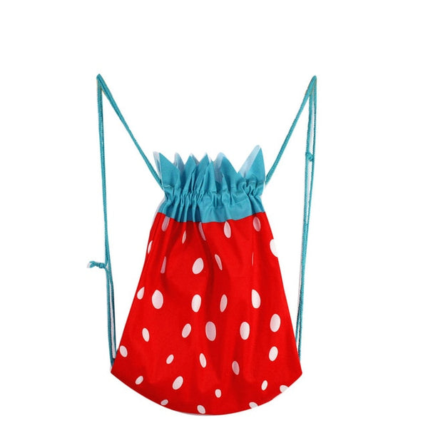 Fruit Design Beach Shoulder Bag Drawstring Women