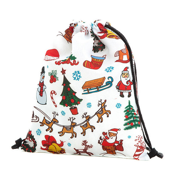 Christmas Candy drawstring pouch Storage Bags