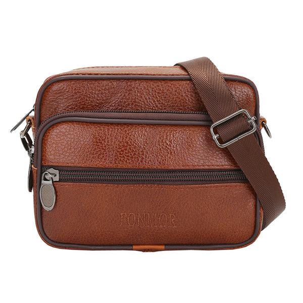 Men Pure color Leather Cross-body Bags Shoulder