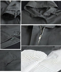 Outwear Casual Jacket  Hooded Lined Cotton