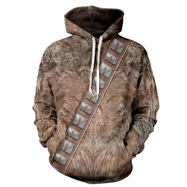 Digital Print 3D Simulated Animal Hair Pattern Hoodie