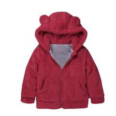 Children's rabbit ears warm Baby coat