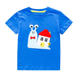 Boys Summer T shirt Children Cartoon Print Tops