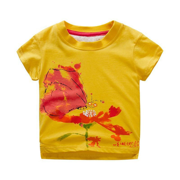 Boys Clothes Short Sleeve Cartoon Print Tops
