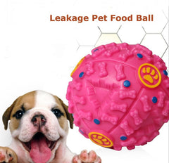 Dog Toy Rubber Chew Dispenser Leakage Food Play Ball