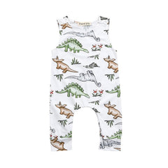 Baby Boys Rompers Summer Clothes Cartoon Print