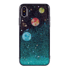 Luxury Bling planet Soft Rubber Slim Case Cover For iPhone XS