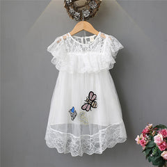 Baby Girls Dress Summer  Lace Sequins