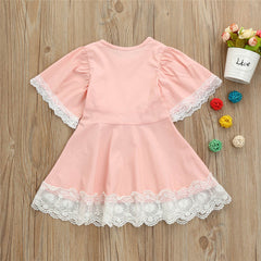 Kids Baby Girls Summer Lace Floral Dresses
