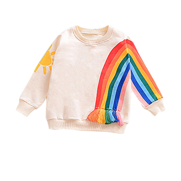 Toddler Newborn Infant Girls Rainbow Tops