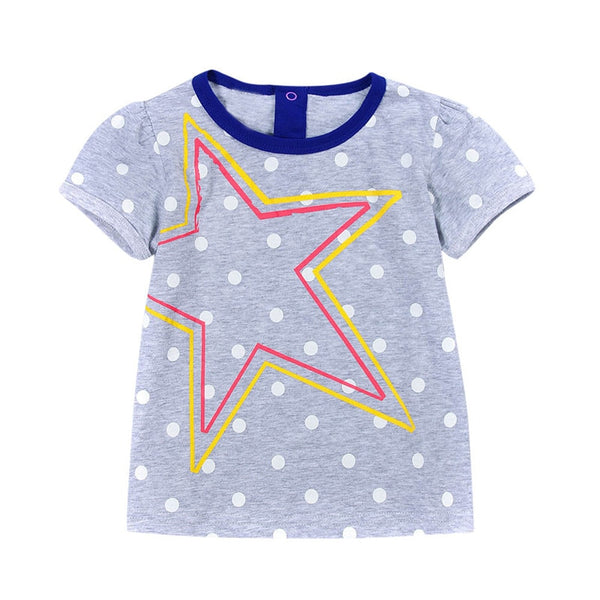 Kids Girls T-shirt Summer Short Sleeve Tops