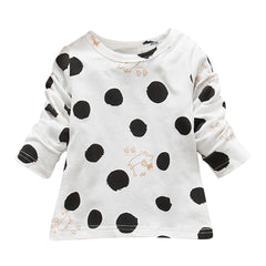 Baby Girls Long Sleeve T-Shirt Dot Soft Tops