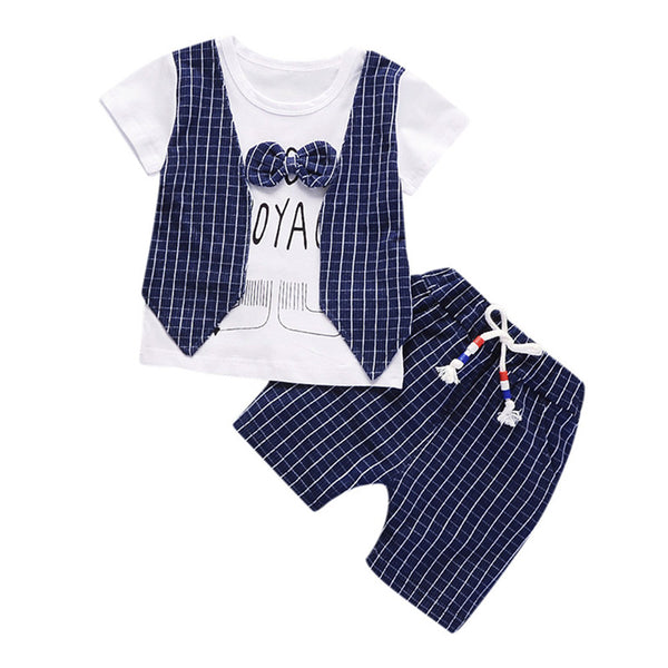 Baby Boys Clothes Short Sleeve Letter Print Set