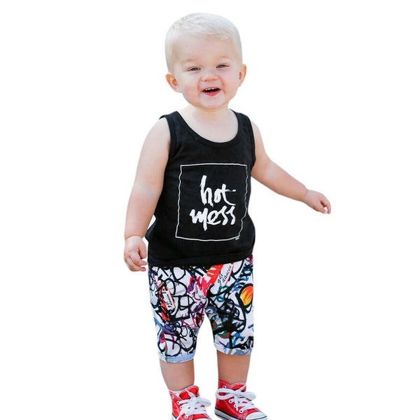 Baby Boy Set Letter Print Shorts Clothing