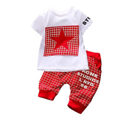 Kid Boys Clothing Set Summer Short Sleeve T-shirt