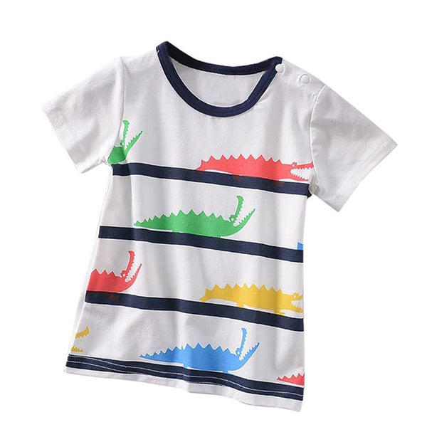 Kids Baby Boys Tshirt Short Sleeve Cartoon Print Tops