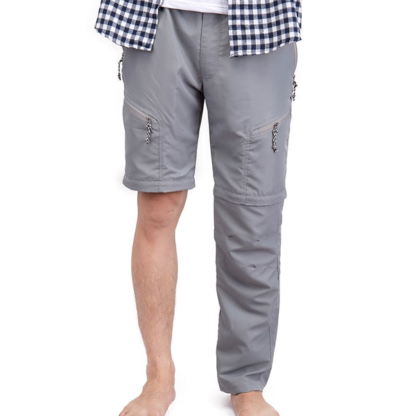 Convertible Splicing Pants Men's Leisure Autumn Spring Trousers