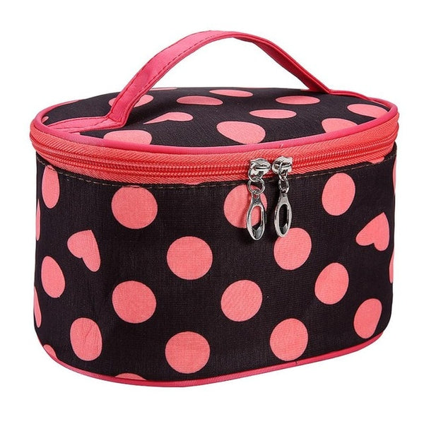 Professional Dot Vintage Cosmetic Organizer Bag