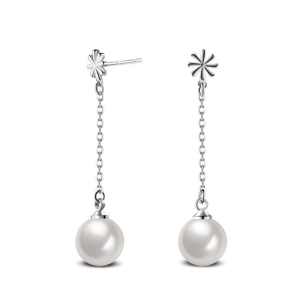 Pearl Ball Dangle Earrings Wedding Party Jewelry