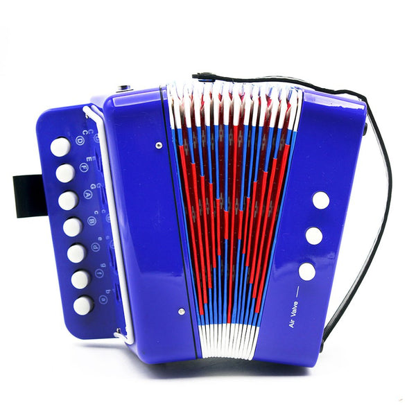 Mini 17-Key Accordion Durable 8 Bass Musical Instrument Toy