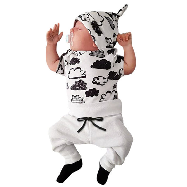 Newborn Baby Boy Clothes Set Cloud Print