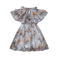 Baby Girl Summer Clothing Butterfly Print Dresses