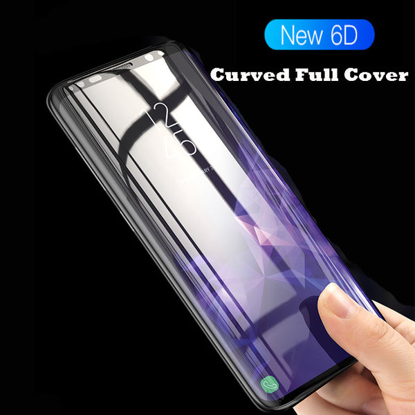 6D Full Curved Tempered Glass for Samsung Galaxy S8 S9 Plus S7 3D Screen Protector