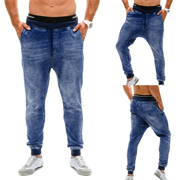 Men's Stretch Denim Pant Distressed Slim Fit Pocket Jeans