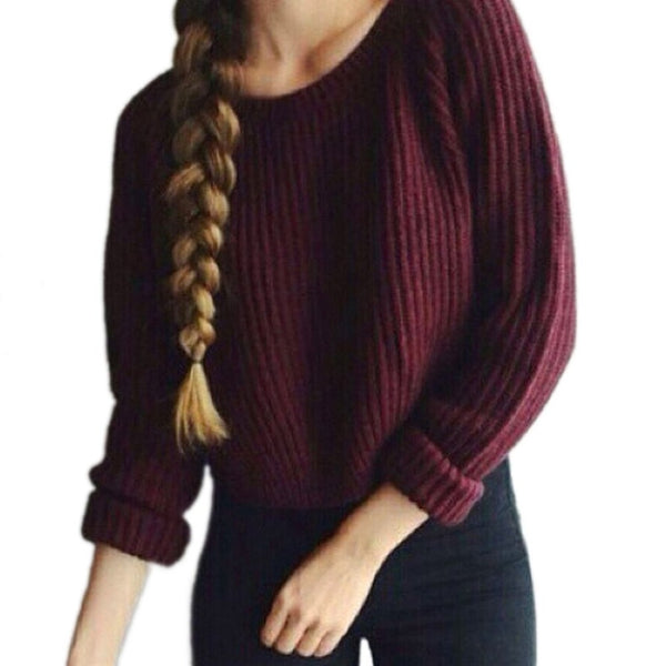 Winter Woman Sweater Knitting Pullovers Ladies Tops