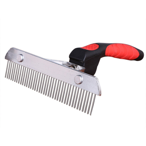 Pet Comb Rubber Handle Stainless Steel Comb Large Cleaning Supplies