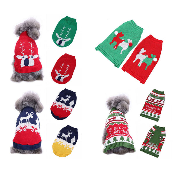 Xmas Reindeer Design Lovely Puppy Pet Cat Dog Sweater